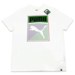 NWT PUMA MENS WHITE CREW NECK SHORT SLEEVE T-SHIRT